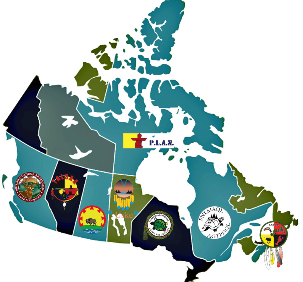 NALMA's 8 Regional Lands Associations shown on a Map of Canada